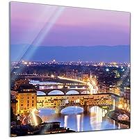 Glas-Bild Wandbilder Druck auf Glas 125x50 Deko Landschaften Italienische Straße