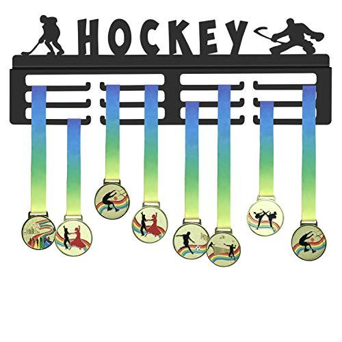 WEBIN Medaille Display Rack für Eishockey, Winter Sport Medaillen Aufhänger, Trophäe Matt Black Metal Halter, Auszeichnungen Aufhänger