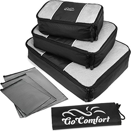 Extrem strapazierfähiges Packtaschen-Set | ideal für Koffer und Rucksack | mit zusätzlichem Wäschebeutel und praktischen Ziploc-Bags (Davidson Harley Mens Eagle)