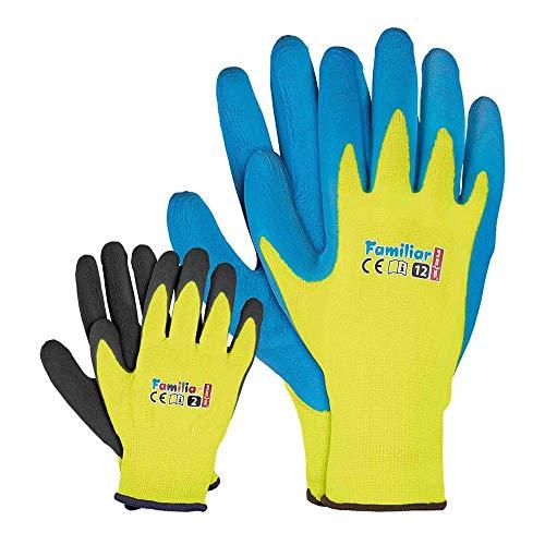 Kinder Arbeitshandschuhe Latex Schutzhandschuhe Gartenhandschuhe 3-5 J.A. und FUZZIO
