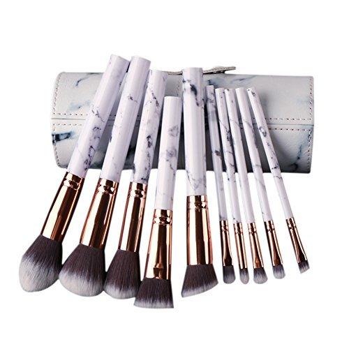 Someas 10 Pcs Marmorierung Make-up Pinsel Set Powder Foundation Lidschatten Werkzeuge Kosmetik Marmor Textur Make-Up Pinsel Augen Concealer Pinsel