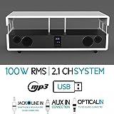 SOUNDVISION 100W RMS 2.1Kanal Home Cinema System–weiß