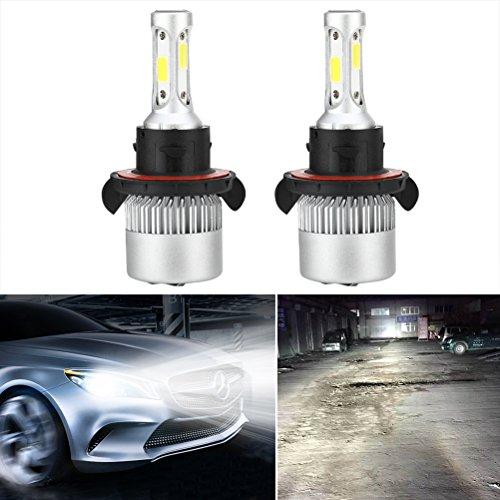 WINOMO Xtremely Bright H13 9008 LED Scheinwerfer Birne Umbausätze Glühbirnen Einstellbarer Strahl für DRL oder Nebelscheinwerfer Xenon Weiß