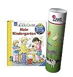 Ravensburger Junior Buch 2-4 Jahre | Mein Kindergarten + Kinder Bauernhof Tiere Poster