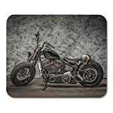 AOHOT Tappetini per Il Mouse Harley Motorcycle Cool Davidson Vintage Bike Chopper Classic Mouse Pad 9.5' x 7.9' for Notebooks,Desktop Computers Accessories Mini Office Supplies Mouse Mats