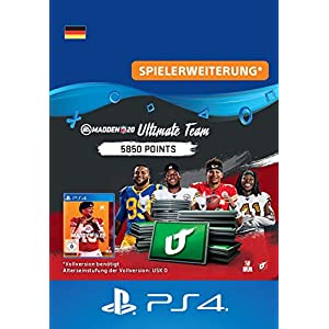 Madden NFL 20 – 5850 Ultimate Team Points – 5850 Ultimate Team Points DLC | PS4 Download Code – deutsches Konto