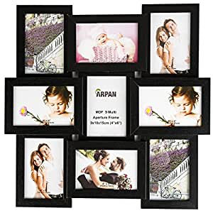 Arpan Multi Aperture Photo Picture Frame - Holds 9 X 6''X4'' Photos