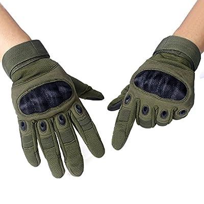 Unigear Taktische Handschuhe mit Klettverschluss Motorrad Handschuhe Army Gloves Sporthandschuhe geeignet für Motorräder Skifahren, Militär, Airsoft