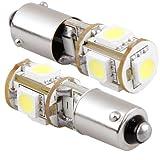 Luz de estacionamiento de coche - SODIAL(R) 2X Canbus 5 SMD LED bombilla luz de estacionamiento H6W BAX9S Tendencia
