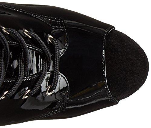 Pleaser masturbateur delight - 1033–sexy high heel peep-toe-bottines à plateau - 35–41 noir verni Blk Pat/Blk