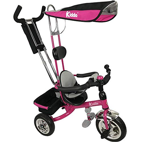 Kiddo Rosa Smart Design 4-in-1 für Kinder Dreirad Kinder Trike 3 Räder Fahrrad Eltern Neue (Rosa)