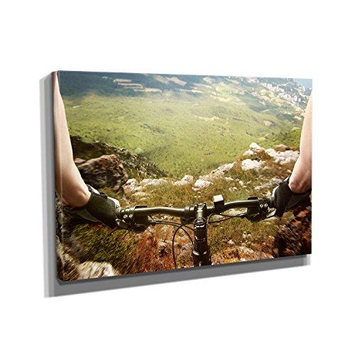Nerdinger Outdoor Riding - Kunstdruck auf Leinwand (90x60 cm) zum Verschönern Ihrer Wohnung. Verschiedene Formate auf Echtholzrahmen. Höchste Qualität. -