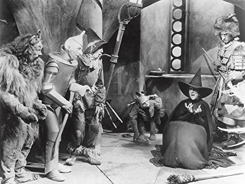 Artland Wandbild auf Alu-Verbundplatte Filmszene Zauberer von Oz, 1939 Film & TV Stars Fotografie Schwarz/Weiß (Löwe Aus Der Zauberer Von Oz Kostüme)
