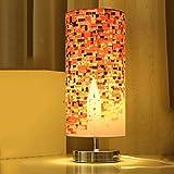 LEGELY Lampada da tavolo in tessuto di tela di canapa dell'olio creativo, stanza dello studio camera da letto lampada da tavolino decorata , stile minimalista moderno, la mappa concettuale della città, 5w, E27, rosso