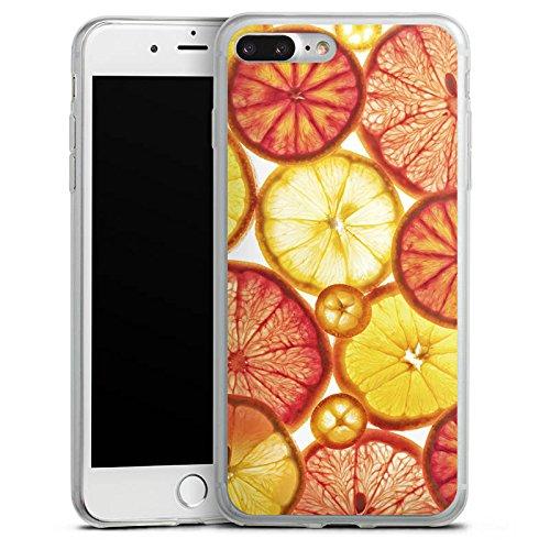 Apple iPhone 8 Slim Case Silikon Hülle Schutzhülle Zitrone Orange Sommer Silikon Slim Case transparent