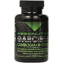 Garcinia Cambogia Extract Pure for Natural Weight Loss - HIGH STRENGTH 1550mg per dose, 70% HCA, 60 Capsules by Absonutrix