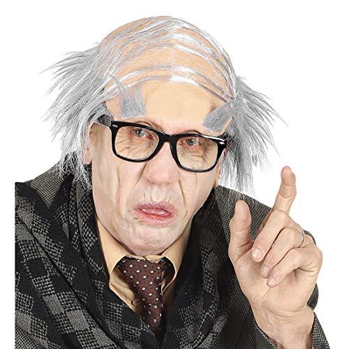 Kostüm Bart Buschigen - NET TOYS Alter Mann Halbglatze mit Augenbrauen | Extravagante Unisex-Accessoire Professor | Bestens geeignet für Mottoparty & Karneval