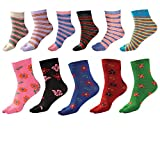 #1: S.S Enterprises Cotton Casual, Partywear Ankle Length Socks for women (Combo Pack of 11)