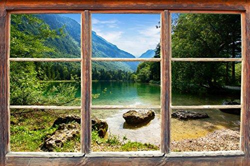 """Infrarotheizung Raufaser Country rahmenlos mit Bild, 600 Watt, Motiv """"Holzfenster"""""""