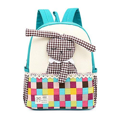 FRISTONE Niedlich Tier Hase Baby Rucksack Kinderrucksack Kleinkind Mädchen Kindergartenrucksack Backpack (Blau)