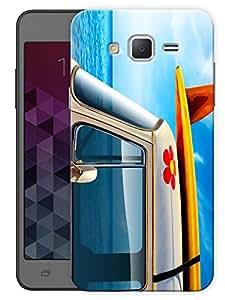 "Humor Gang Mini Van Blue Printed Designer Mobile Back Cover For ""Samsung Galaxy j3"" (3D, Matte Finish, Premium Quality, Protective Snap On Slim Hard Phone Case, Multi Color)"