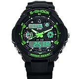 Sannysis Multi Function Military S-Shock LED Wasserdicht Sportuhr Alarm 0931 (Grün)