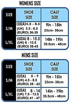 Kompression Socken (1Paar) Für Männer & Frauen Von Infinity–Beste Für Running, Krankenschwestern, Tibiakantensyndrom, Flight Travel, Skifahren & Mutterschaft Schwangerschaft–Boost Athletic Ausdauer Und Wiederherstellung 3