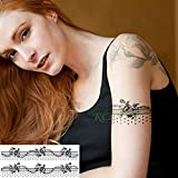 3 Pezzi-Impermeabile Tatuaggio Adesivo Totem Tribale Vecchia Scuola Tatuaggio Autoadesivo del Tatuaggio Ragazza Mano Femminile Che Tiene 3 Pezzi-