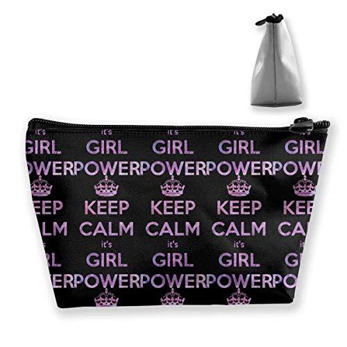 Purple Keep Clam Girl Power Travel Funda de aseo portátil Maletines de maquillaje portátiles