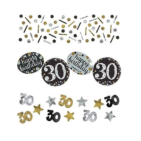 Amscan 3601873 Tüten Konfetti * 30. GEBURTSTAG - SPARKLING * für eine Party 34 Gramm Inhalt Gold und (Papier Tischdecken Weihnachten)
