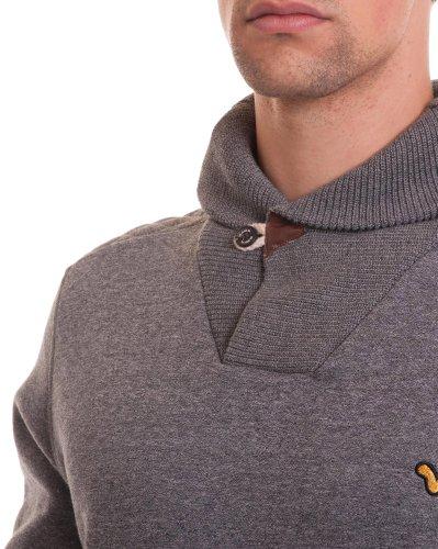 Voi Jeans - Pull fourré gris design Gris