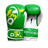 Force da boxe training sparring punzonatura guanti in pelle bovina Kick Boxing guantoni da sacco D3 x , Uomo, Green