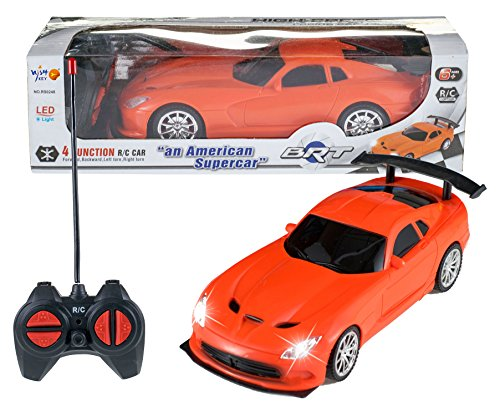 Wishkey Remote Control High Speed Racing American Orange Super Car for Kids
