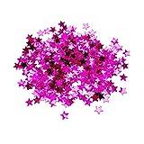Sharplace 1 Sac Confettis de Noël pour Mariage Anniversaire Confetti de Table en Plastique Cadeau - Rose