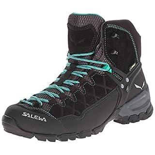 Salewa Ws Alp Trainer Mid Gtx, Damen Trekking- & Wanderstiefel, Schwarz (Black Out / Agata 0969), 41 EU