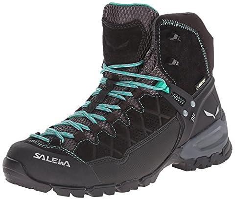 Salewa Ws Alp Trainer Mid Gtx, Women's High Rise Hiking Shoes, Black (0969 Black Out/agata), 5.5 UK / 38.5