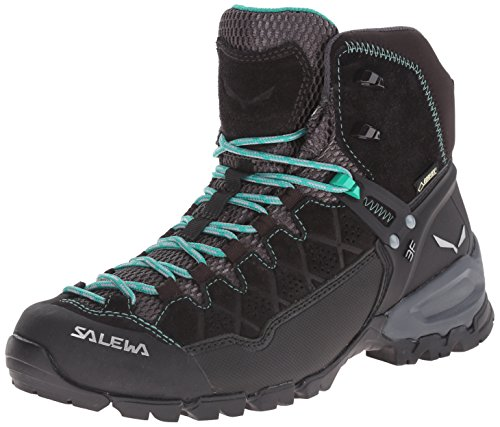 SALEWA Alp Trainer Mid Gore-Tex, Scarpe da Arrampicata Alta Donna, Multicolore (Black Out/agata), 37 EU