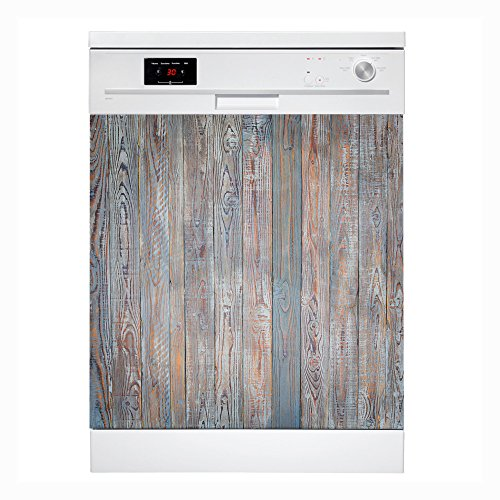 MoreDesign Geschirrspüler Folie I Spülmaschinen Aufkleber I Kühlschrank Sticker I selbstklebende Dekofolie für die Blende I 65cm x 60cm I Holz (65 Kühlschrank Cm)