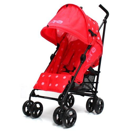 Zeta Vooom Stroller with Warm Red Dots