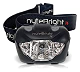 nyteBright T6 Headlamp - Head Torch w/ White, Red & Strobe CREE LED Lights for Running, Camping, Hiking Cycling, Fishing, Hunting - Waterproof, Lightweight, Adjustable Beam, Very Robust - FREE Energizer Batteries, FREE BONUS, Lifetime Warranty!