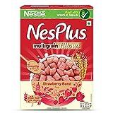 #7: Nestle NesPlus Breakfast Cereals, Multigrain Fillows - Strawberry Burst, 500 Grams