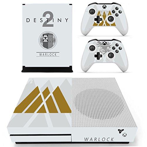 XBox One Slim + 2 Controller Aufkleber Schutzfolien Set - Destiny 2 Warlock /One S