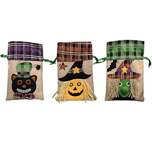 Halloween-Dekoration Tote Tasche Kinder-Festival Candy Bag Hexe Kürbis-Drawstring-Tasche Party-Show Dress Up Candy Dress Up