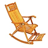 QFFL Schaukelstuhl Haushalt Bambus Schaukelstuhl Falten Lounge Stuhl Ältere Mittagspause Stuhl Im Freien Schaukelstuhl Versenkbare Sofa Stuhl Sommer Kühl Stuhl Outdoor Hocker (Farbe : B#1)