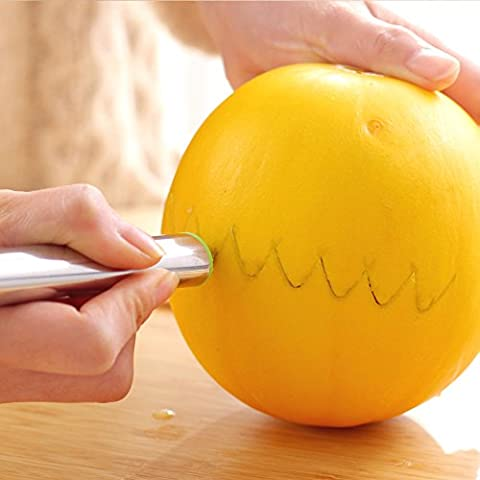 Stainless steel carved knife server fruit digging ball to Mozambique,,server