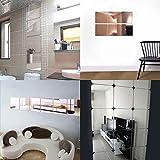VIGORFUN 9 Stück Spiegelfliesen Selbstklebend Set Fliesenspiegel Küche 18x18cm Wandspiegel zum Wanddekoration (18 x 18 cm) - 5