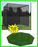 Tapis de golf, Golf Net Cage, 10'X10' X10Golf Net Cage de golf et 5'X5' Octagon Résidentielles Tapis de golf. Nos Dura-pro 10'(P) x 10' (H) X10'(L) Cage de golf Golf Filet est livré avec High Velocity Fort Impact Filet de golf et une High Impact double Butée arrière et cible Plus un 5'X5' Octagon Résidentielles Tapis de golf gratuit Boule bac/balles/tees/60min. Full Swing d'entraînement DVD/Impact décalcomanies et correction Guide avec chaque commande. Veuillez Noter que CE est une qualité commerciale de golf Cage avec un tapis de golf de Taper Résidentielles....