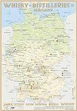 Whisky Distilleries Germany - Tasting Map 24x34cm: Laminierte Landkarte der Whisky-Destillerien in Deutschland