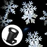 E-foxer Proiettore Luce di Fiocco di Neve Amore Star Spotlight di Paesaggio Lampada LED per la Festa Natale o Il Matrimonio o la Decorazione di Party Luce Multicolore per il Giardino (White Snow)