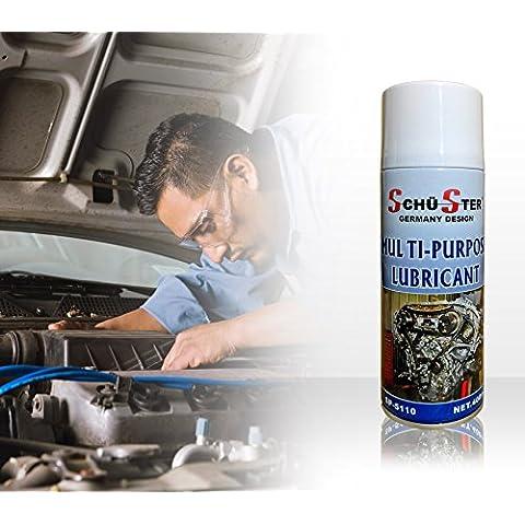 Grasso spray olio sintetico Schü-Ster lubrificante multiuso termoresistente 400 ml SP-5110, MWS
